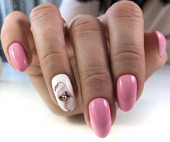 С рисунком фламинго