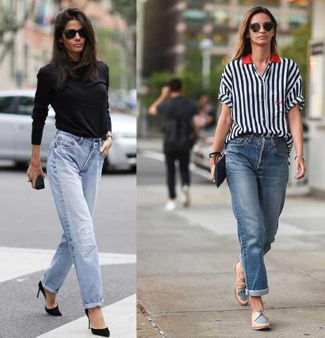 Модные джинсы бойфренды: особенности, с чем носить, кому идут фото 3