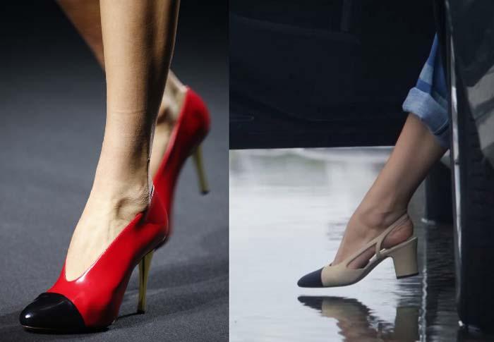 Chanel красные туфли