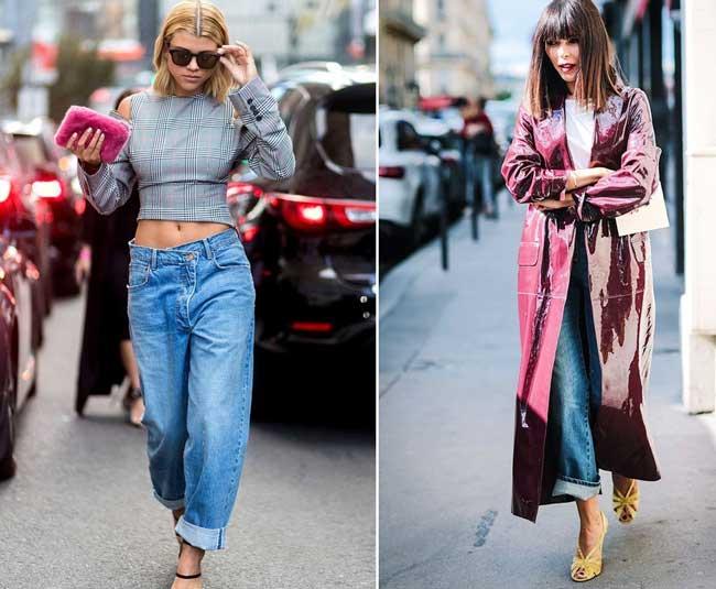 Как выглядеть стильно в джинсах бойфренд фото