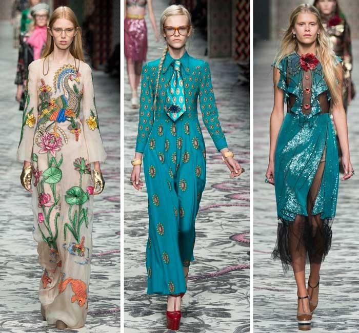 модный зелёный цвет в коллекции Gucci