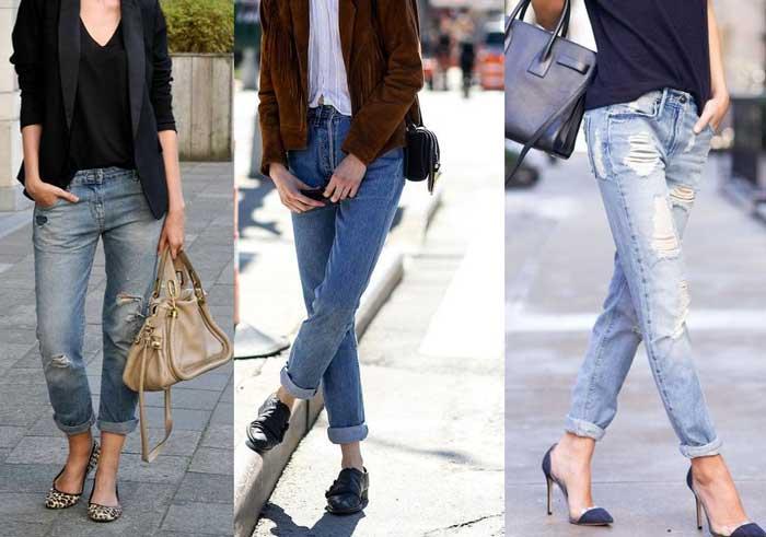 джинсы с подворотом