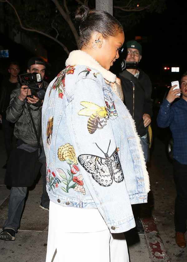 Rihanna куртка с вышивкой