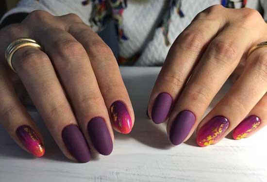 Фиолетовый маникюр и характер