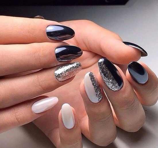 Красивый дизайн зеркальные ногти