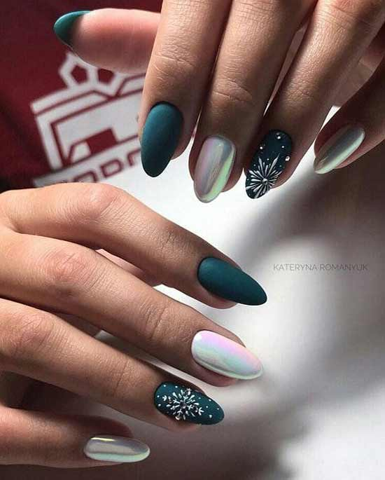 Жемчужная втирка на ногтях