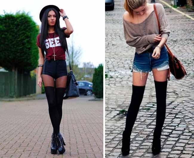 Чёрные гетры и обувь