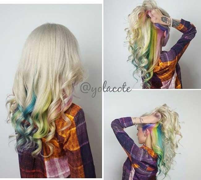 Скрытая радуга в волосах