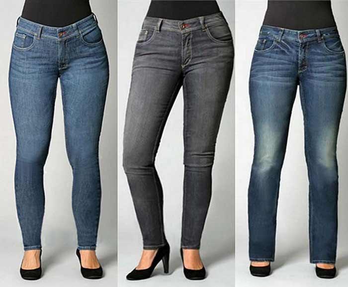 Средняя посадка джинсов