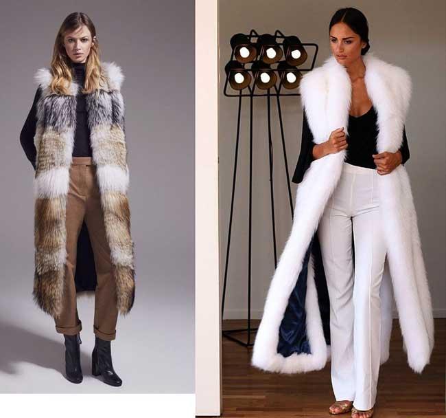 С чем носить меховой жилет: 15 шикарных образов (фото)