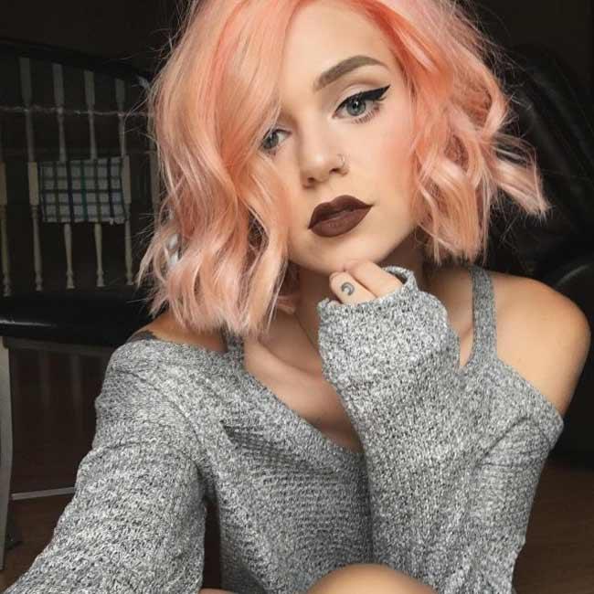 Клубничный оттенок блонд