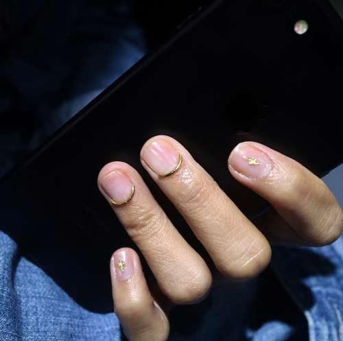 Минималистичный дизайн ногтей из проволоки 2017