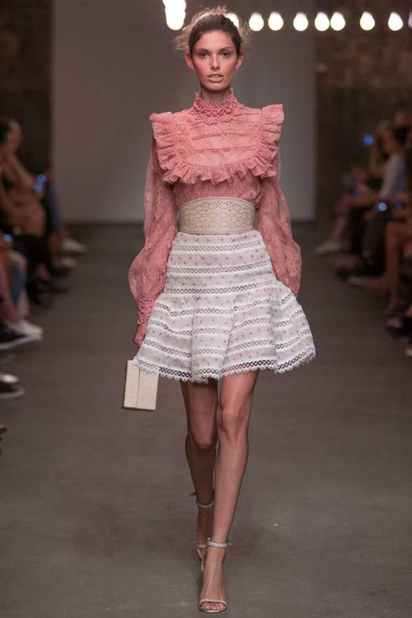 Розовый цвет наряд, сочетание 2017
