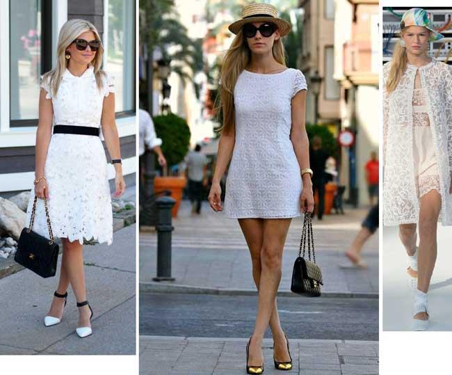 Хит 2017 белое платье кружевное