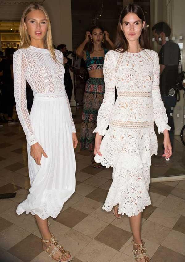 Белое кружевное платье хит
