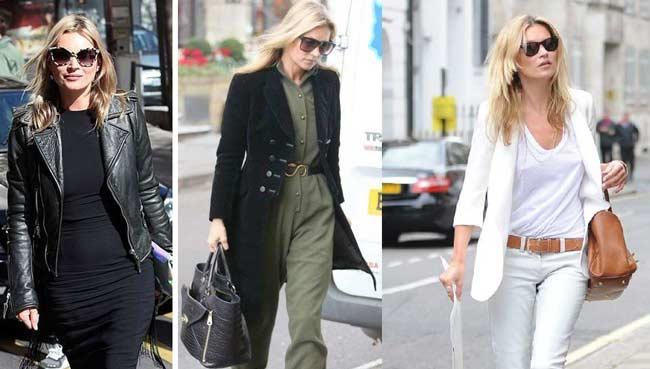Одевайтесь как Кейт Мосс: особенности стиля, макияжа, образы. Фото
