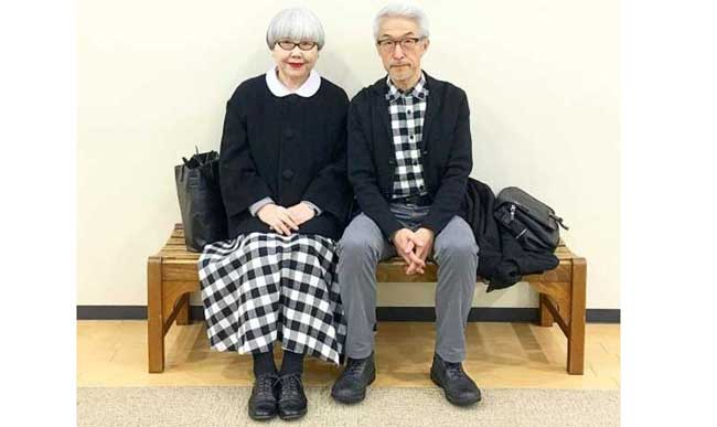 Они вместе 37 лет и одеваются в одном стиле: модная пожилая пара из Японии