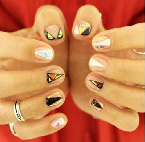 Дизайн широких коротких ногтей