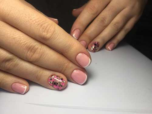 Дизайн короткие ногти