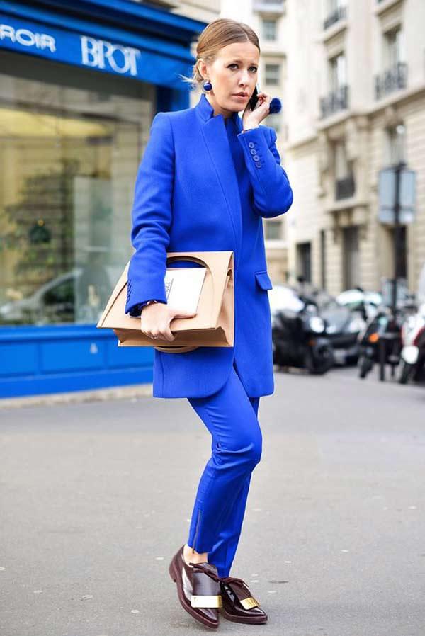 Синий однотонный наряд