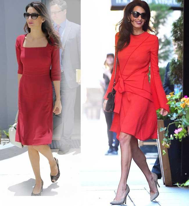Красное платье, какие аксессуары