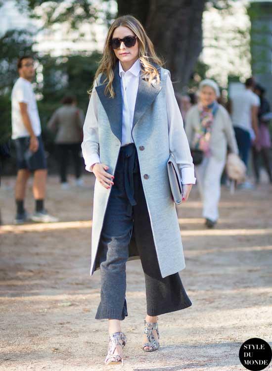 Образ пальто и кюлоты