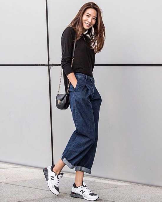 Широкая модель джинсов