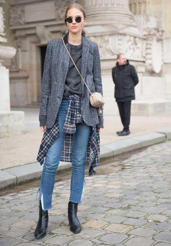 Укороченная модель джинсов