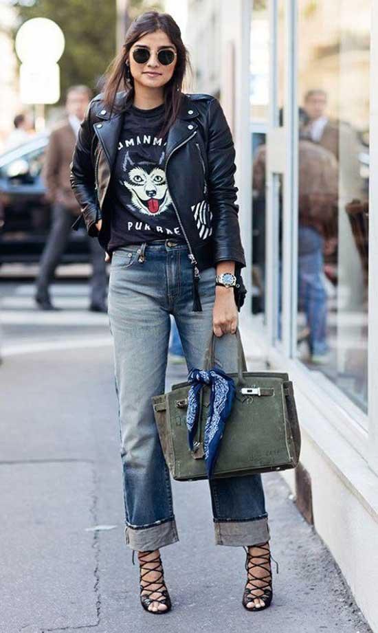 Широкие отвороты у джинсов