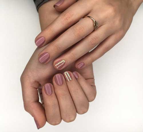 Нюдовый маникюр для коротких ногтей