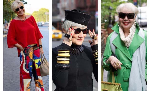 Стильная зрелость: Street Style после 50, яркие образы