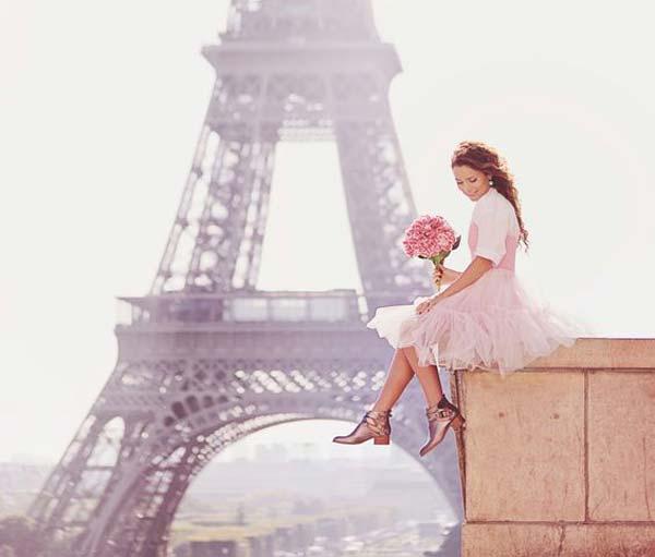 Кадры из Парижа, девушка стиль