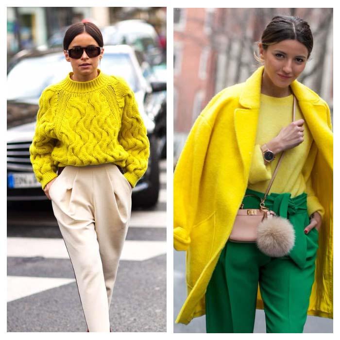 Модные оттенки желтого
