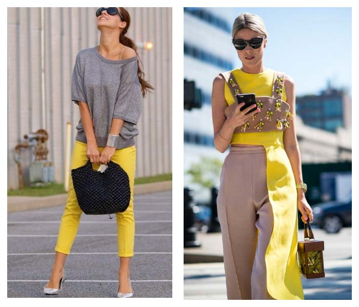 Yellow outfit ideas for spring 2017