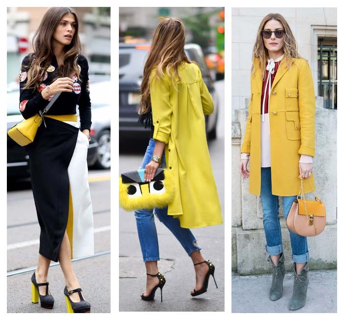 Желтый холодный цвет в одежде кому идет