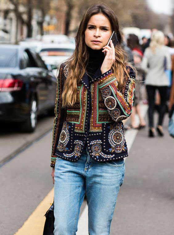 Стильный блейзер+джинсы Мира Дума