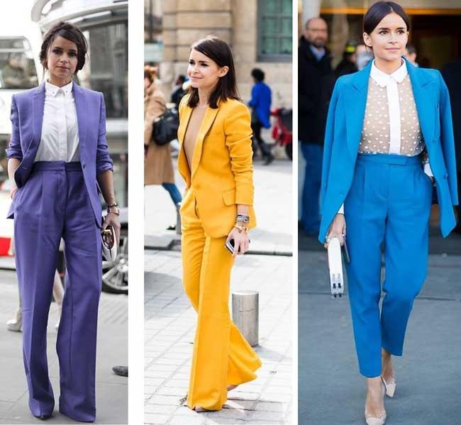 Брючные костюмы разных цветов Миры Думы