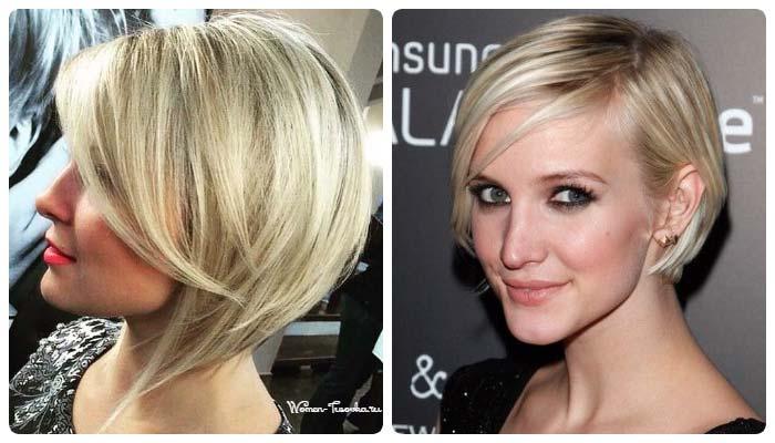 Однотонное окрашивание платиновый оттенок тонких волос