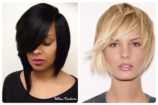 Блондинка и брюнетка с тонкими волосами