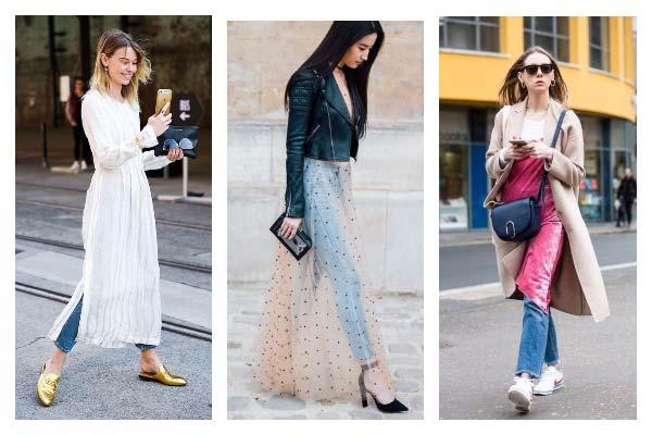 Платье поверх не только брюк: как носить новый тренд