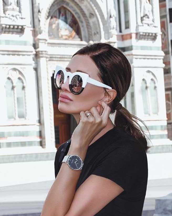 Белые очки realfashionist