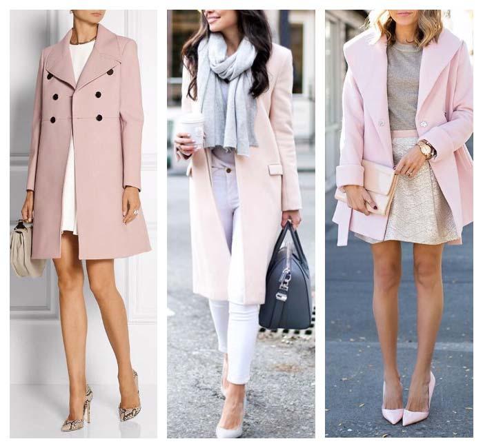 Оттенки розового для девушки - осень