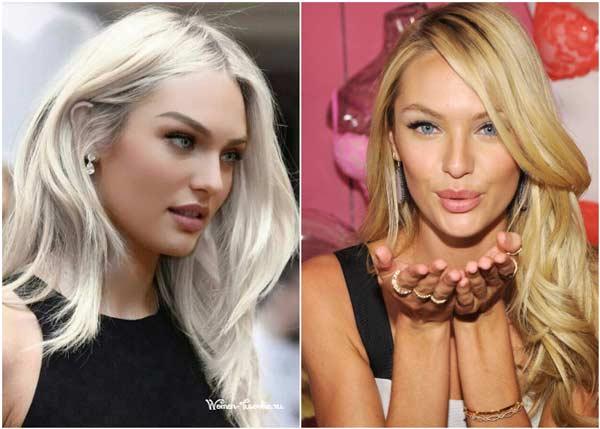 Сравнение белоснежные волосы и с золотистым акцентом