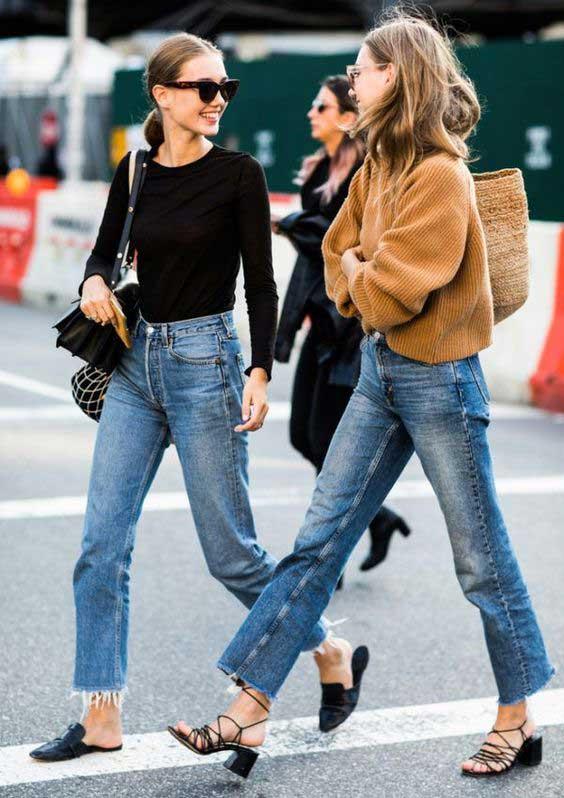 20 примеров, как создать стильный образ с брюками ¾