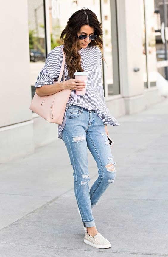 Jeans герлфренд модный образ