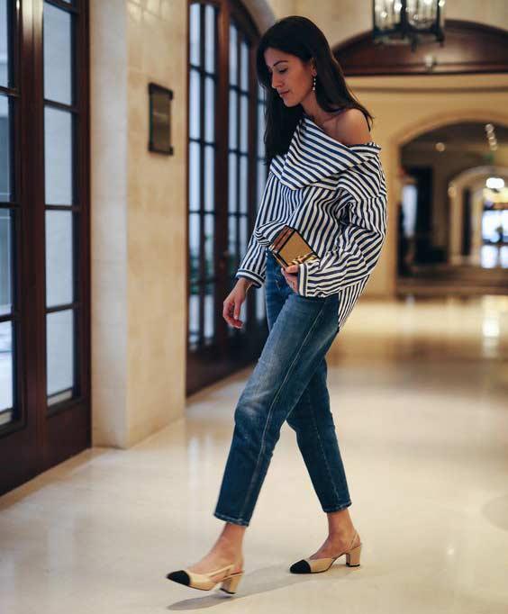 Классика - джинсы синие с потертостями