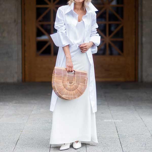 Летний образ с белым платьем