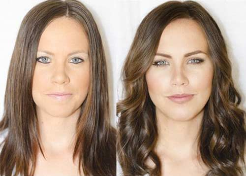 Коррекция цвета и формы бровей - до и после