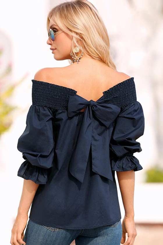 Большой бант блузка - модный фасон