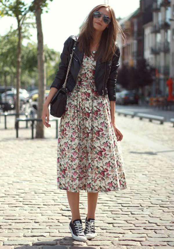 Платье с цветочным орнаментом